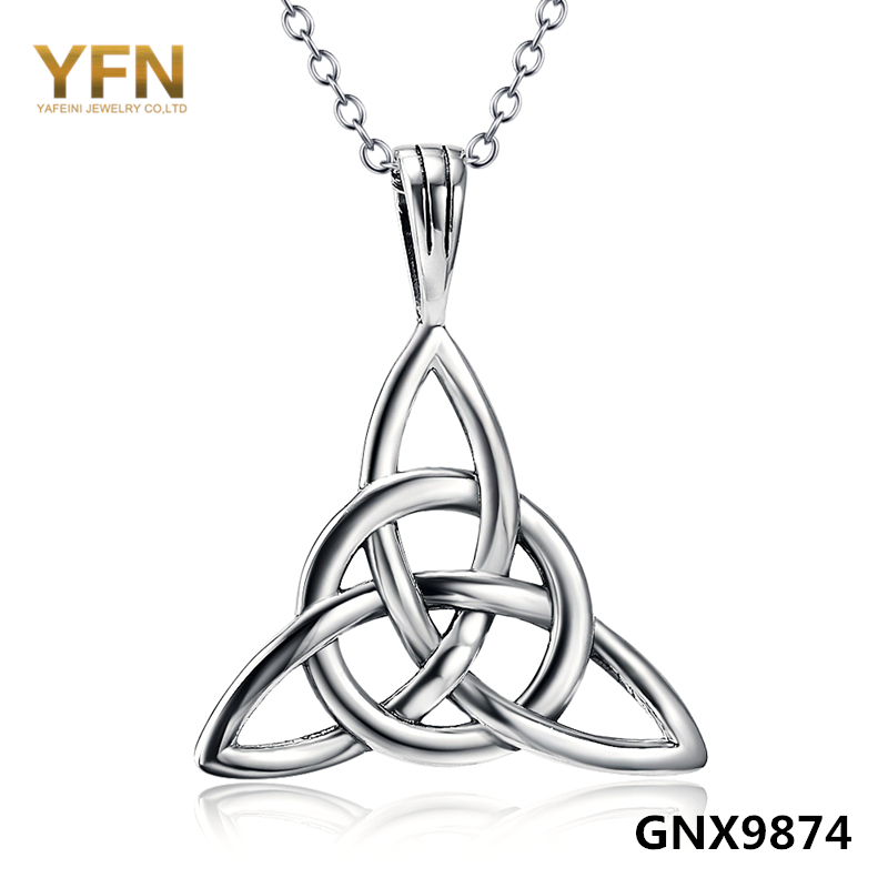 GNX9874 New Design Lucky Knot Jewelry Necklace Wholesale 925 Sterling Silver Jewelry For Woman Or Man Fashion Jewelry(China (Mainland))