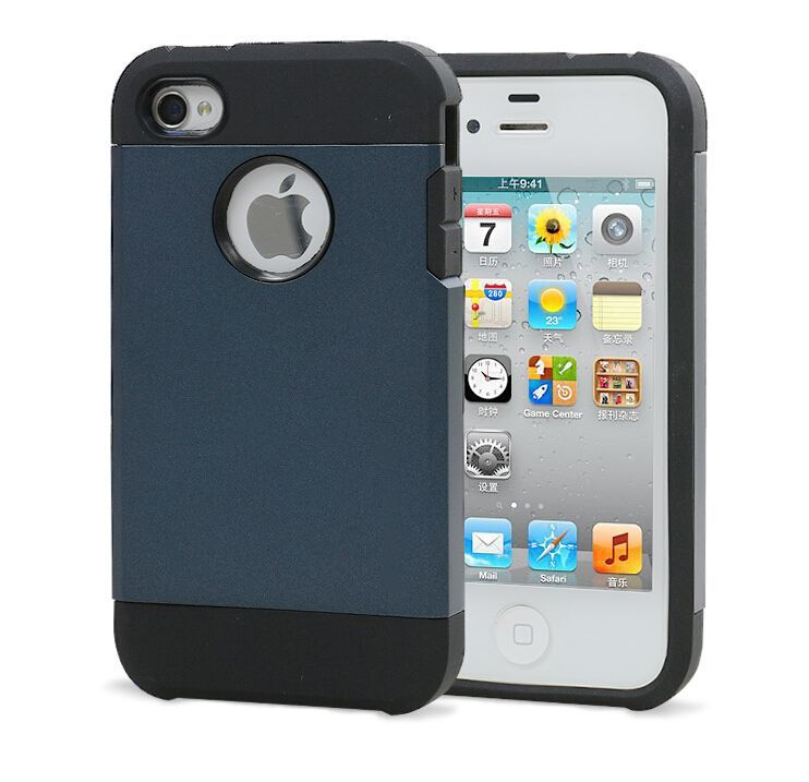 For Apple Iphone 4 4S Case Tough Neo Durable Hybrid Armor Cover Cases For Iphone4s(China (Mainland))