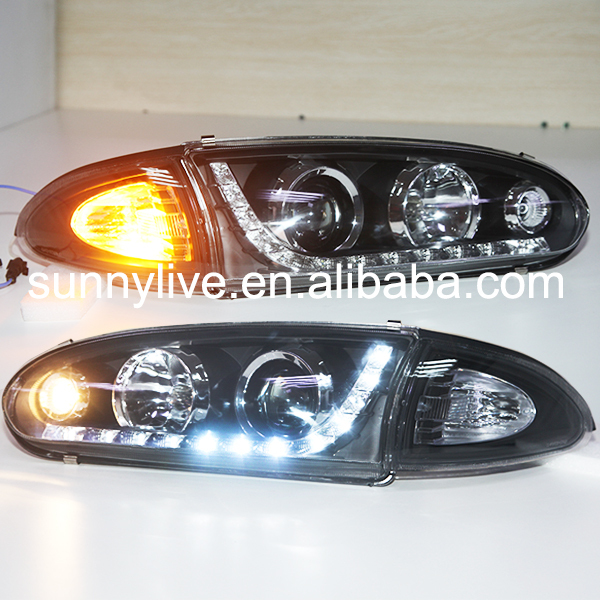 1992--2009 Year For PROTON Wira LED Head Lamp front lights Headlights with projector lens YZtype(China (Mainland))