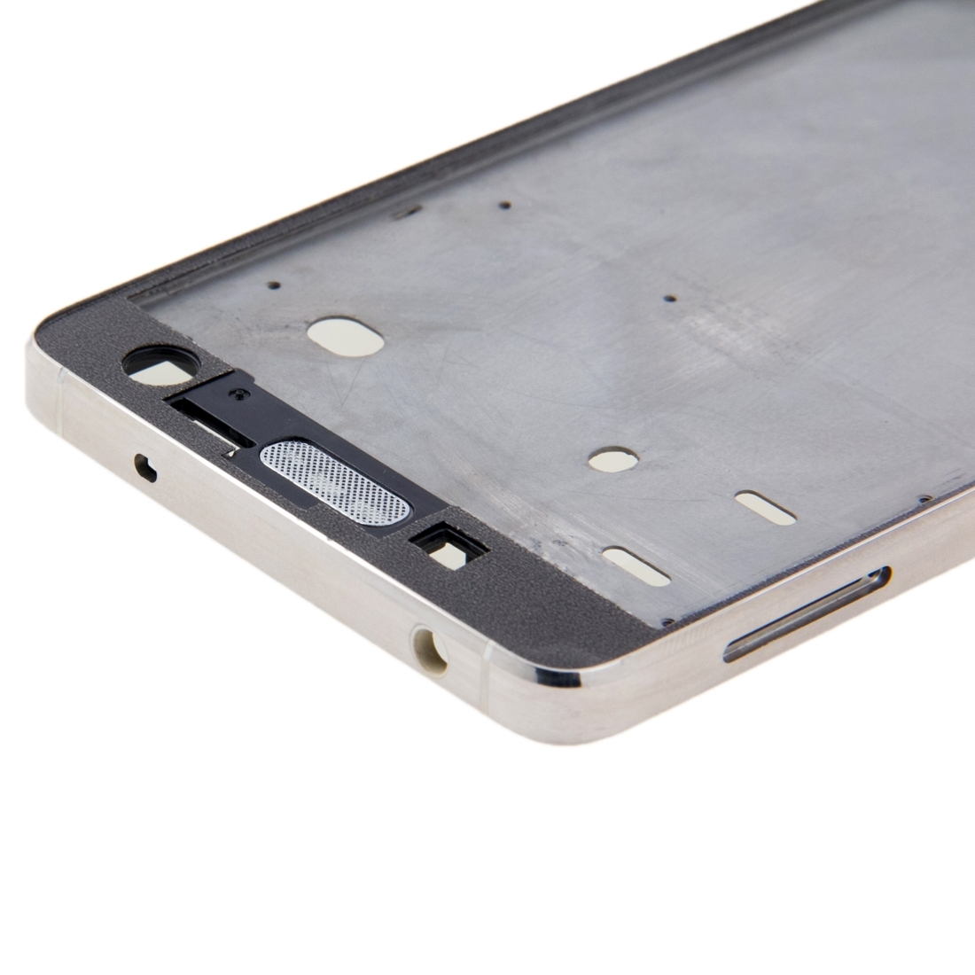 iPartsBuy Replace Housing for Xiaomi Mi 4 Mi4 Mobile Phone Front Housing LCD Frame Bezel Plate Replace Parts Silver Bamper