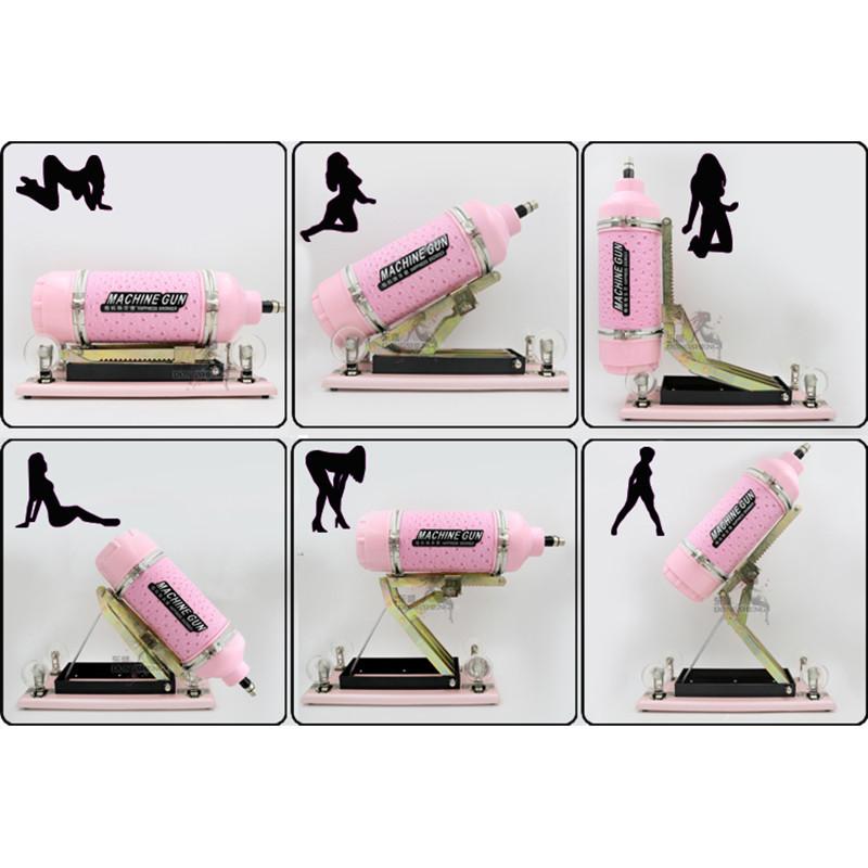 2015 New Auto Sex Machine Fast Thrust Telescopic Pink Masturbation Toy With Dildo For Women Female Pink #smachineDS-03(China (Mainland))