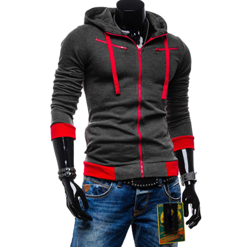 Drop Shipping Mens Autumn Winter casual sports hooded collar cardigan Hoodies cotton outerwear sweatshirt x-1353 - working for best store