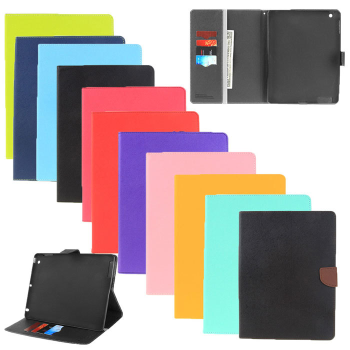Fashion New Brand Mercury Leather Folio Flip Stand Tablet Cover Case For iPad Air 2 / iPad 6(China (Mainland))