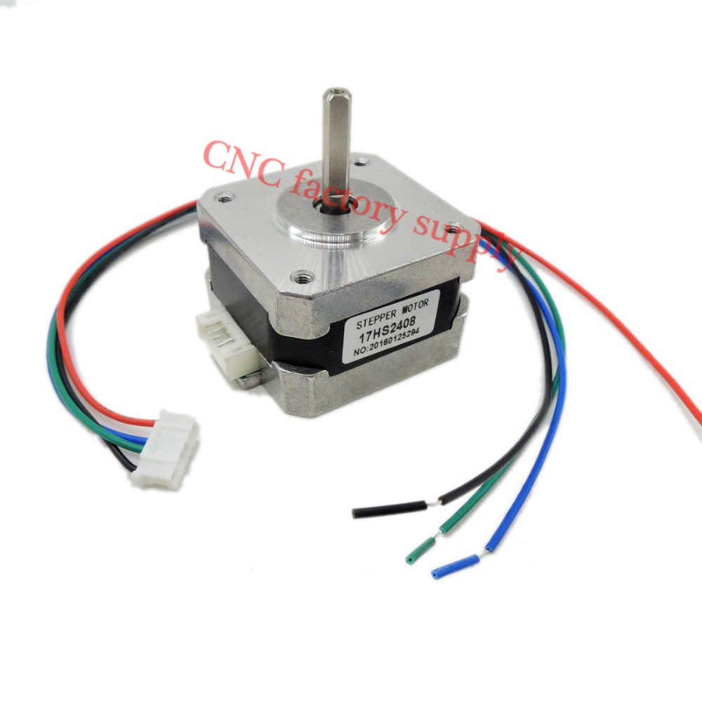 Free Shipping 1 Pcs 17hs2408 4 Lead Nema 17 Stepper Motor