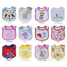 Wholesale Baby Girl Boy Towel Saliva Waterproof New Kids Cartoon Pattern 3 Layer Toddler Lunch Bibs Burp Cloths