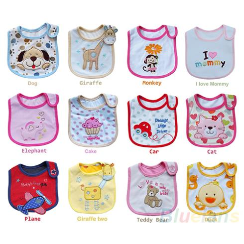 Wholesale Baby Girl Boy Towel Saliva Waterproof New Kids Cartoon Pattern 3 Layer Toddler Lunch Bibs Burp Cloths 1HLH(China (Mainland))
