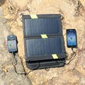 14W high Efficiency Foldable Sunpower Solar Panel Charger Dual Output Solar Power Bank Camping Charger for