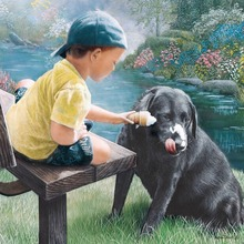 Buy Dog 3D DIY Diamond Painting Boy Black Dog Mosaic sets embroidery stitch wall sticker Handicraft fabric yarn dyed Canvas for $8.13 in AliExpress store