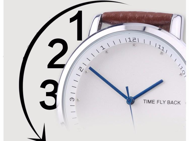 Марки TS Против Часовой Стрелки Классическая Мода Кварцевые Часы Женщины Кожаный Ремешок Часы Часы Водонепроницаемые Дамы Наручные Часы Relogio