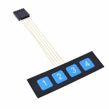 Buy 2 pcs 1x4 4 Key Matrix Membrane Switch Keypad Keyboard Control Panel SCM Extended Keyboard Super Slim Controller Arduino for $1.05 in AliExpress store