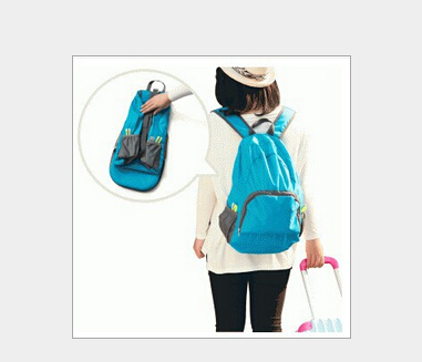 Simple Design Floding Women Men Unisex Travel Outdoor Backpack Leisure Bags Schoolbag Rucksack Foldable Bags