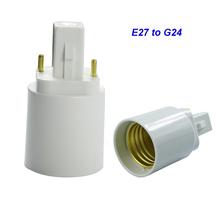 10pcs/lot lamp holder E27 to G24 base socket for led indoor lighting,corn bulb, easy to install(China (Mainland))