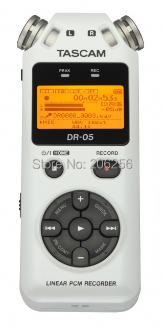 Original Hot Tascam dr-05 digital recording pen professional voice recorder dr05 white free shipping(China (Mainland))