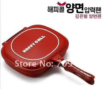 FreeShipping!! Happy call pan,Happycall,Fry pan,Non-stick pan,frypan,double sided frying pan Well Sold to Singapore Maylaysia