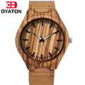 Wood Watch Quartz Movement Wristwatches Genuine Leather Bamboo Wooden Watches For Men And Women Bracelet Creative