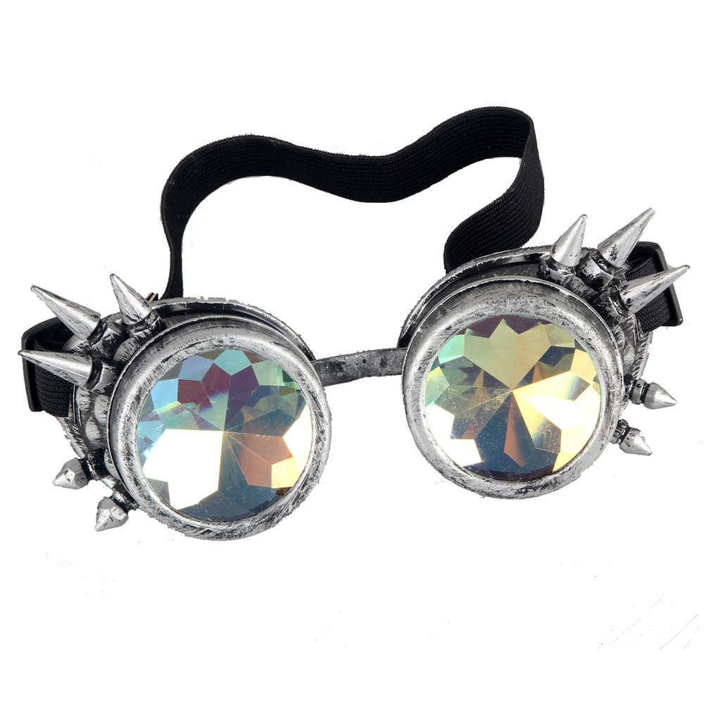 New Victorian Steampunk Goggle Glasses Welding Cyber Punk Spiked Gothic Cosplay(China (Mainland))