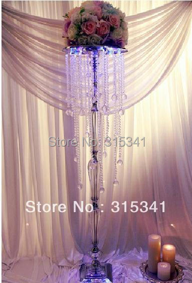 Free shipment OUGE-0015/ 6pcs/lots/ crystal wedding centerpiece/table centerpiece/93cm tall(China (Mainland))