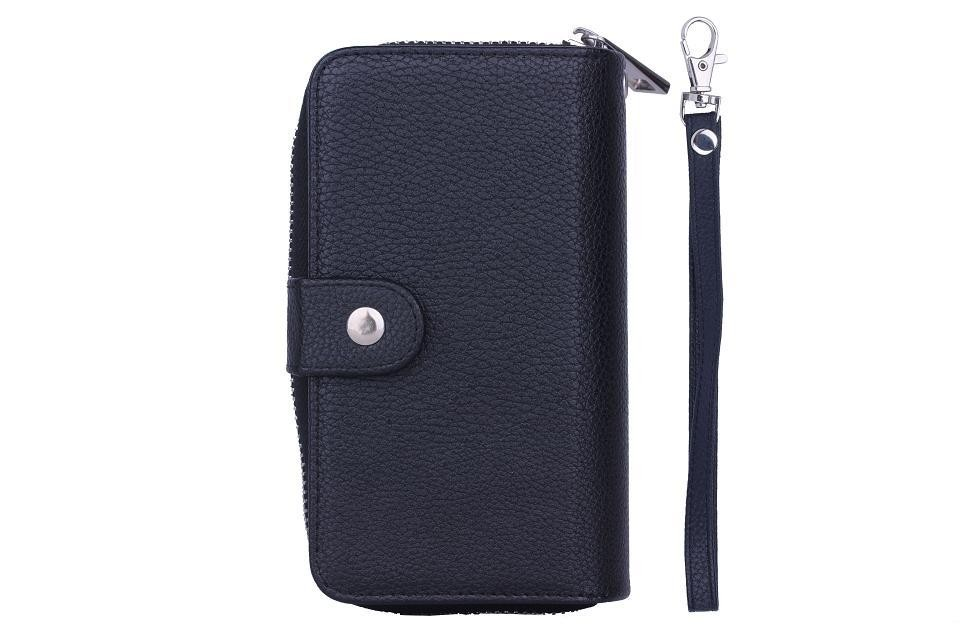 Luxury Lady Women Zipper Leather Handbag Wallet Phone Case for iPhone 7 6 6s Plus 5S SE Flip Cover for iphone 7 Plus Phone Bags