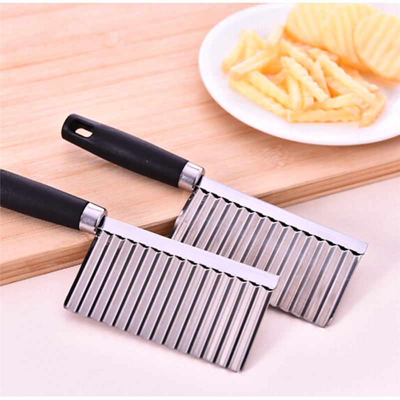 Stainless Steel Potato Carrot Dough Waves Crinkle Cutter Slicer Kitchen Vegetable Fruit Chip Blade Knife Shredder Cooking Tools(China (Mainland))