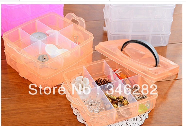 Removable transparent plastic box small objects debris jewelry box for home storage(China (Mainland))