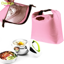 1 pcs Thermal Cooler Insulated Waterproof Lunch Carry Storage Bags For Travel Camping Nylon 4 Colors Picnic Bag Pouch Lunch Bag(China (Mainland))