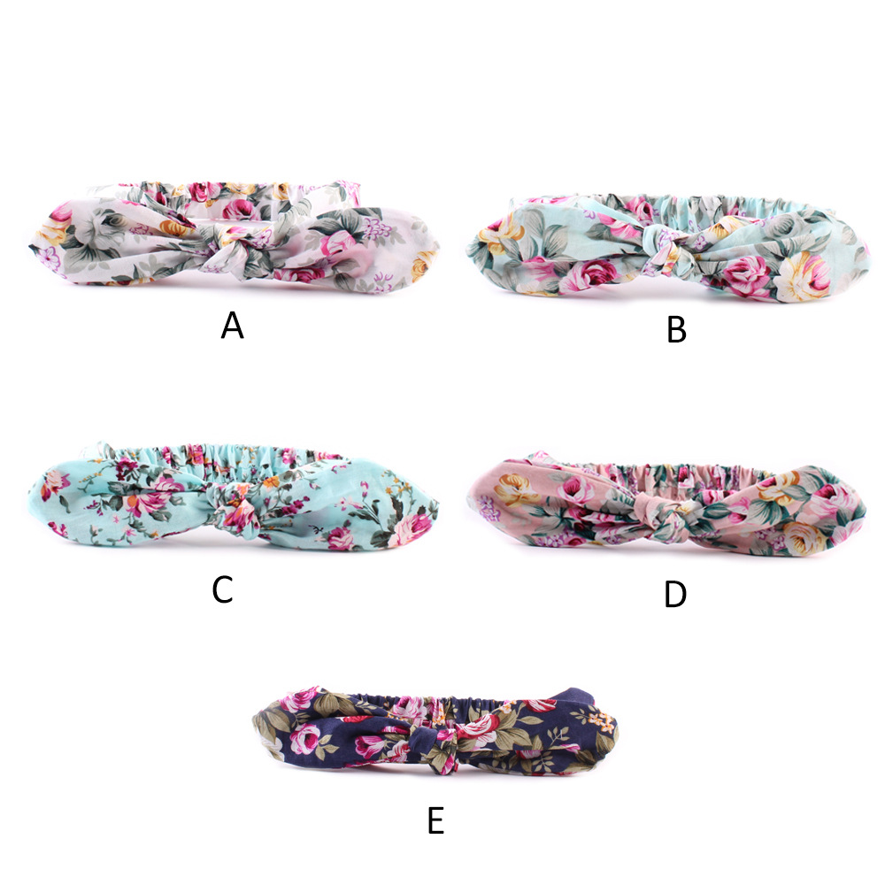 2016 new Cotton rabbit ears headband knot headwrap mom Rose flower elastic Turban headbands women hair accessories30PCS/LOT(China (Mainland))