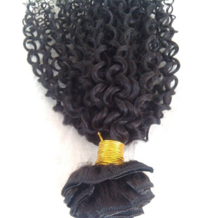 Full Head Kinky Curly Hair Clip In Extensions 7pcs/set 100g Brazilian Human Hair Clip In Extensions For Black Women