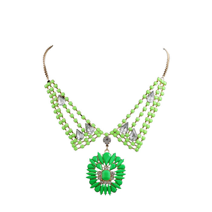 Phoenix Europe jewelry wholesale manufacturers selling fashion hit color fashion magazine recommended short necklace 06(China (Mainland))