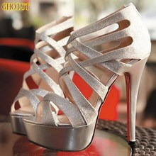free shipping summer drop ship discount cheap gold gladiator red peep toes sexy bottom high heels sandals Pumps women shoes  (China (Mainland))