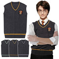 High Quality Badge Adult Harry Potter Sweater Vest Slytherin Gryffindor Ravenclaw Cosplay Costume Man Waistcoat Plus