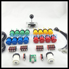 DIY Arcade parts Bundles With 1 Joystick+Player button+American style button+Microswitch for button/Arcade DIY kits(China (Mainland))