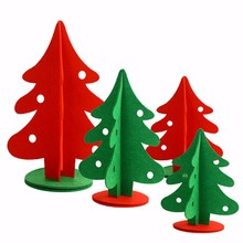 Non Woven Fabric Christmas Tree 3 Size Xmas Decoration Supplies Home Party Shop Market Ornaments Green Red - SKU Co., Ltd. Store store