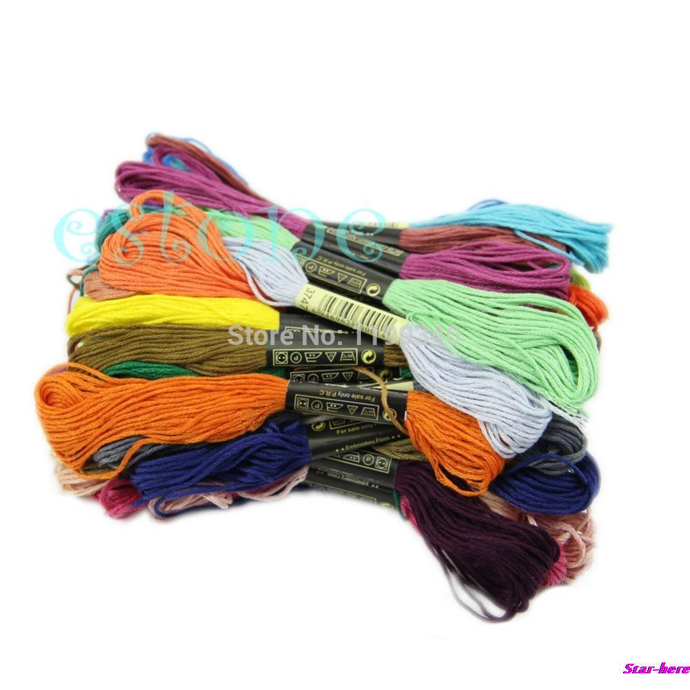 Hot-selling 50Pcs Anchor Craft Cross Stitch Cotton Embroidery Thread Floss Sewing Skeins Lots free shipping<br><br>Aliexpress