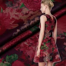 Buy Limited Hazy spray satin mulberry silk natural fabric dress cheongsam watered gauze tissu au meter bright cloth DIY for $27.69 in AliExpress store