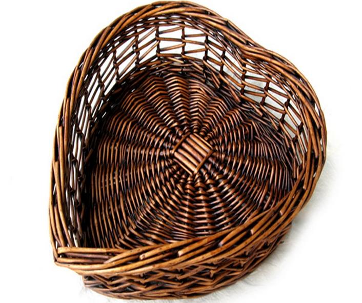 100% Manual made Natural Wicker Box Fruit basket plate lattices Antique style Home Decor Zakka(China (Mainland))