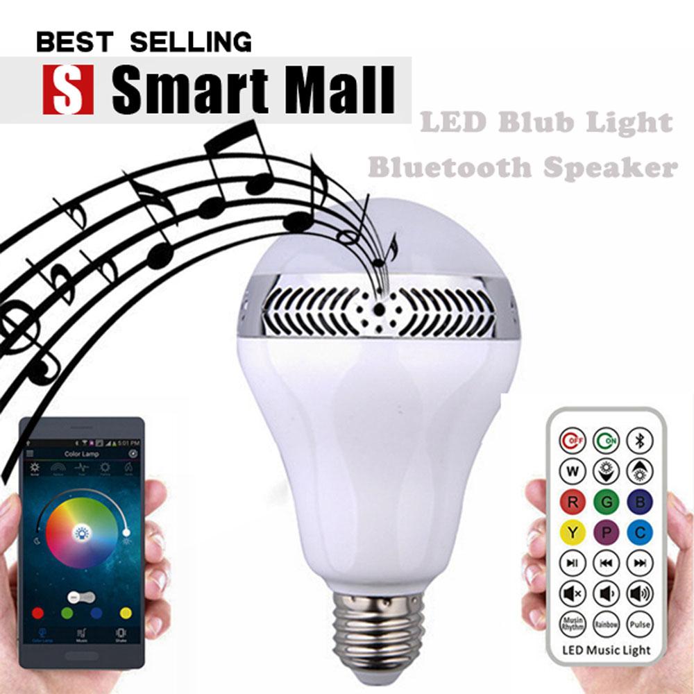 BULB Smart LED Bulb Light Wireless Bluetooth Speaker 110V - 240V E27 3W Lamp Audio for iPhone 5S 5C 5 iPad air<br><br>Aliexpress