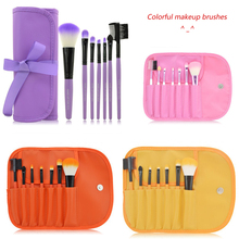 7Pcs Makeup Brushes tools Professional tool kits for hand to Make up Toiletry Wool Brand brush to comestics accessories Case