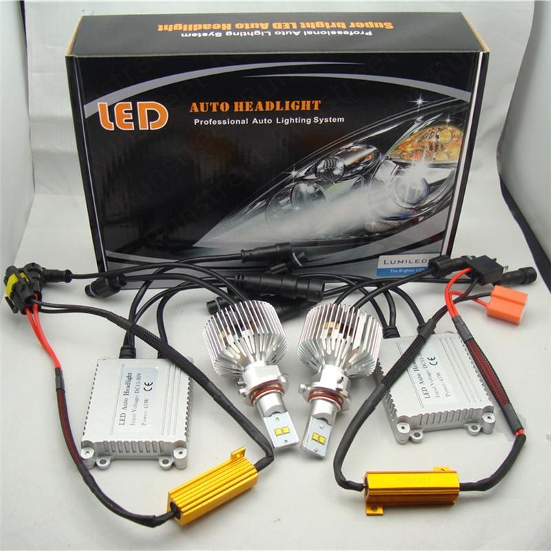 Runstreet(TM) H8 6000K Super Bright 9000lm Car LED Headlight Fog Light Conversion Kit Lumileds LMZ LED Kit K.O. Xenon HID Kit