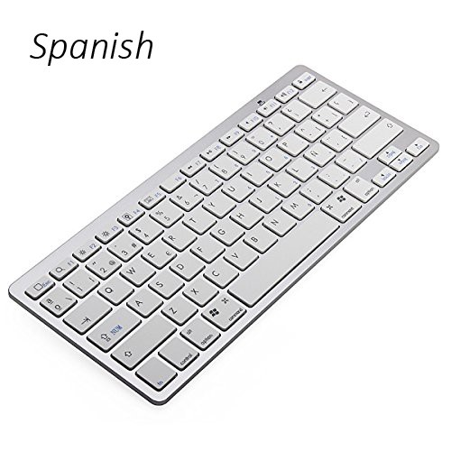 Spanish Language Ultra slim Wireless Keyboard Bluetooth 3.0 for ipad/Iphone/Macbook/PC computer/Android tablet Free shipping(China (Mainland))
