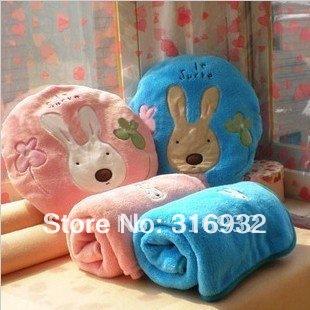 J2 2013 new 92cm*150cm large size le sucre plush rabbit air-condition blanket