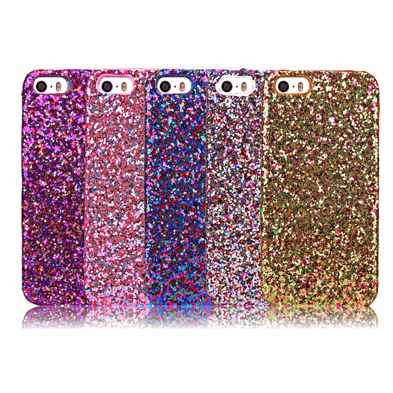 Luxury Fashion Candy Sparkling Phone Case Cover Crystal Bling For iPhone 5 5G 5S iPhone SE via China Post Registered Air Mail(China (Mainland))