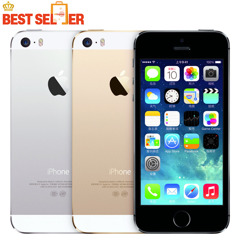 2016 Hot Sale Apple iphone 5S Mobile phone LTE Dual core 4.0 inches 1G RAM 64GB ROM 8MP IOS A1533/A1457 In Stock(China (Mainland))