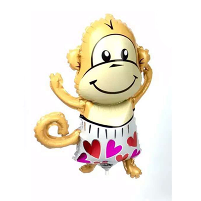 Free shipping mini love monkeys aluminum balloons decorated party balloons wholesale children's toys(China (Mainland))