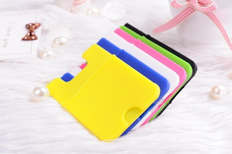 Silicone ID Card/ Credit Card Holder Back Adhesive Sticker iPhone 5/5s/5c/4/4S samsung S3,S4,S5 - r's store