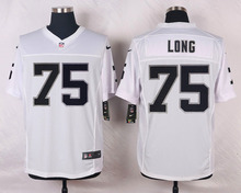 Oakland Raiders #75 Howie Long Elite White and Black Team Color high-quality free shipping(China (Mainland))
