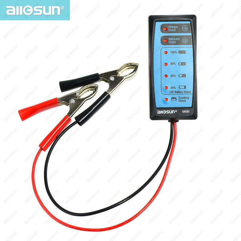 Mini 12 Volt Battery Check Automotive Battery Tester Charger/Alternator/CrankIng Check all-sun GK503(China (Mainland))