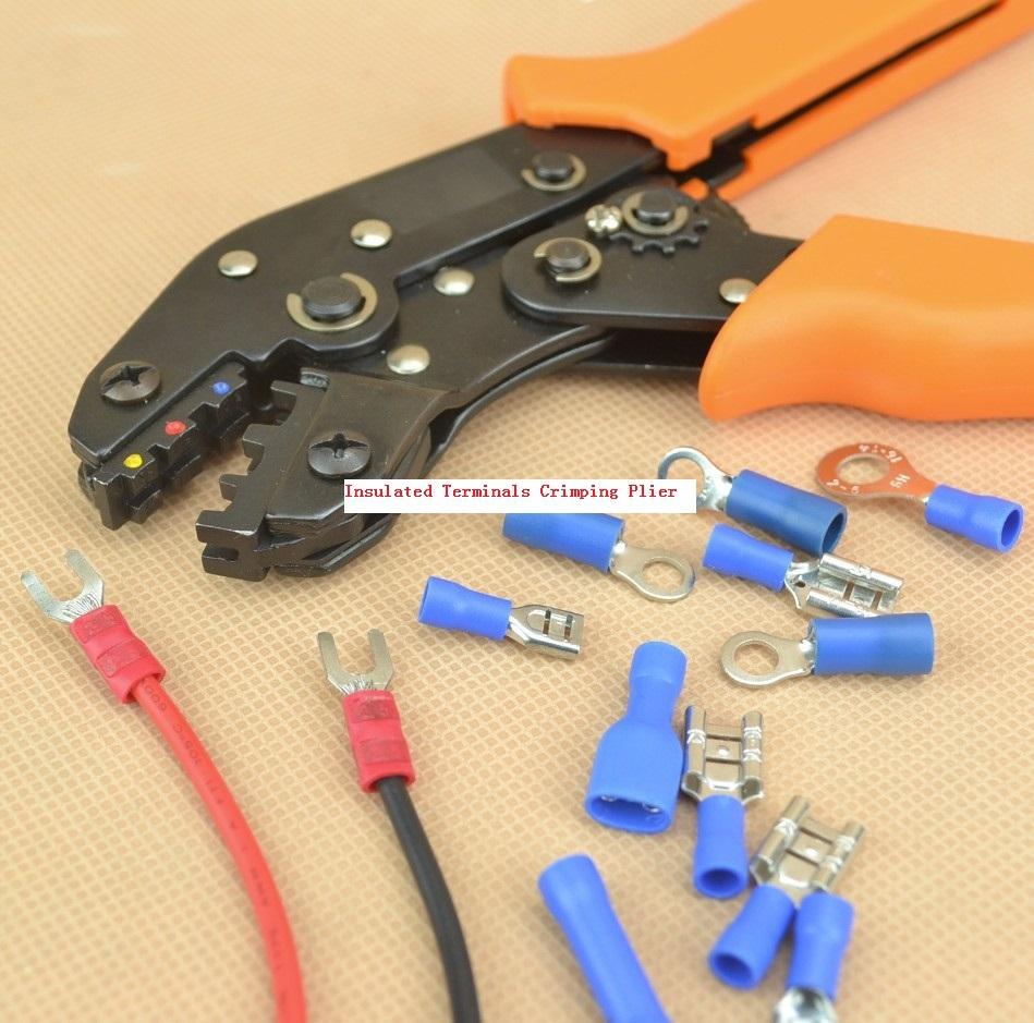Insulated Terminals Crimping Plier Capacity 0.25-2.5mm2 crimp tool AWG22-14(China (Mainland))