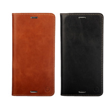 Real Genuine Leather Case For Sony Xperia Z3 Book Style Flip Stand Phone Back Cover with Card Slot Black Brown