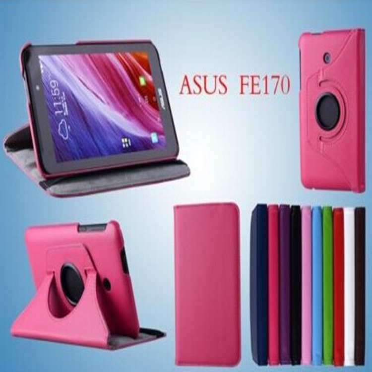 """For FE170 rotating PU Leather Smart Books case Stand capa para Cover For ASUS FonePad 7"""" FE170CG K012 Tablet cases+film+pen(China (Mainland))"""