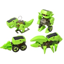 DIY Assemble 4 In 1 Educational Solar Robot Drilling Machine Dinosaur Insect Toy Kit For Kids Children Baby(China (Mainland))
